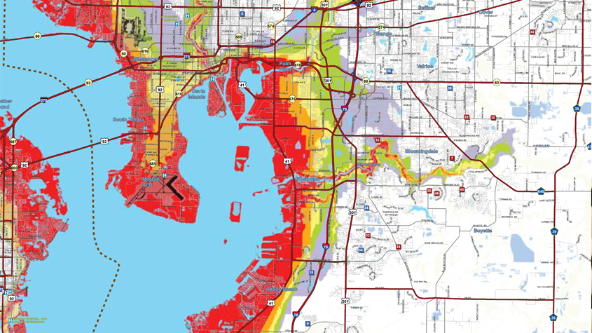 33613 Zip Code Map.Hillsborough County Evacuation Zones Vs Flood Zones