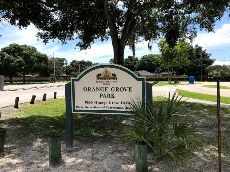 Orange Grove Park Welcome Sign