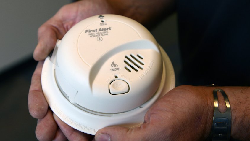 Smoke Alarm in hands