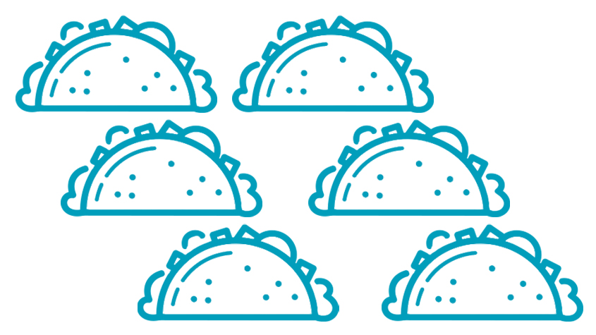 blue graphic tacos